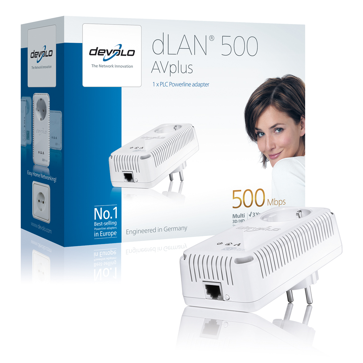 DEVOLO DLAN 500MBITS AV PLUS SINGLE