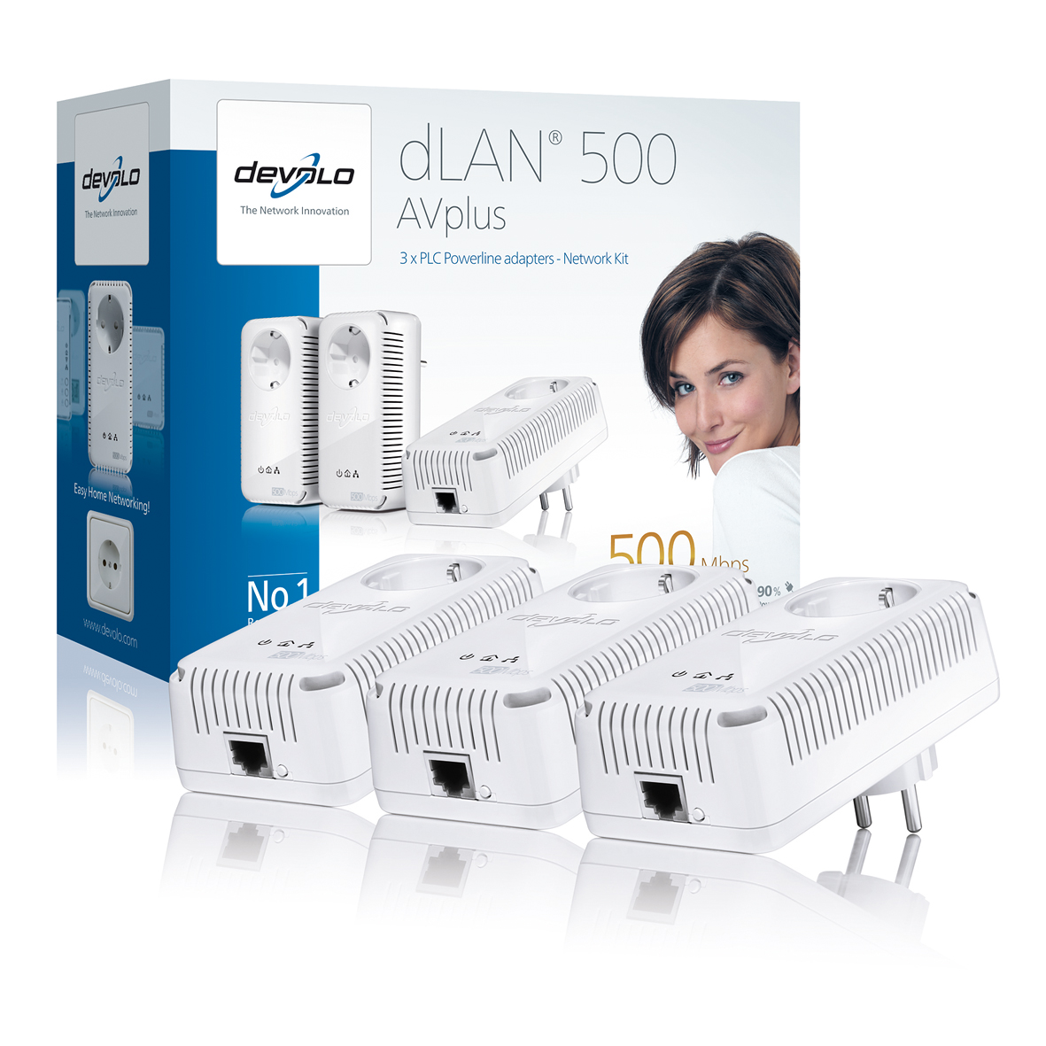 DEVOLO DLAN 500MBITS AV PLUS NETWORK KIT