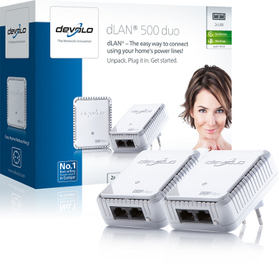 DEVOLO DLAN 500MBITS DUO STARTER KIT