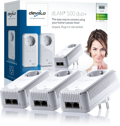 DEVOLO DLAN 500MBITS AV DUO PLUS NETWORK KIT