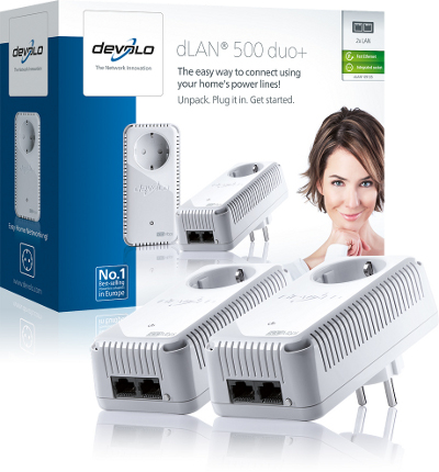 DEVOLO DLAN 500MBITS AV DUO PLUS STARTER KIT