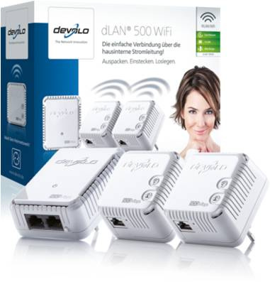 DEVOLO DLAN 500MBITS WIFI NETWORK KIT
