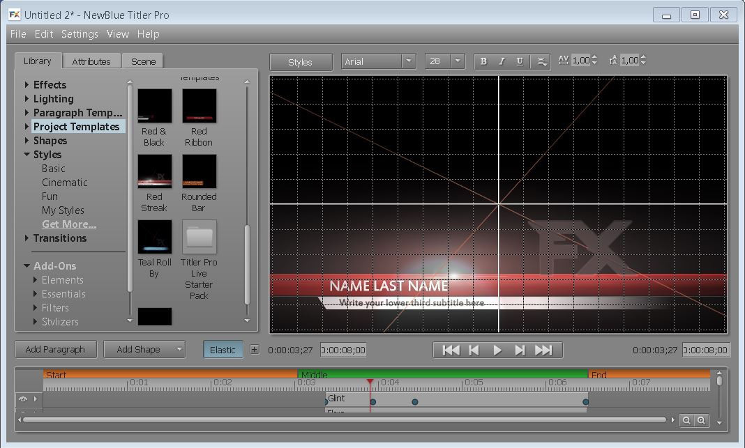 TITLER PRO LIVE FOR WIRECAST