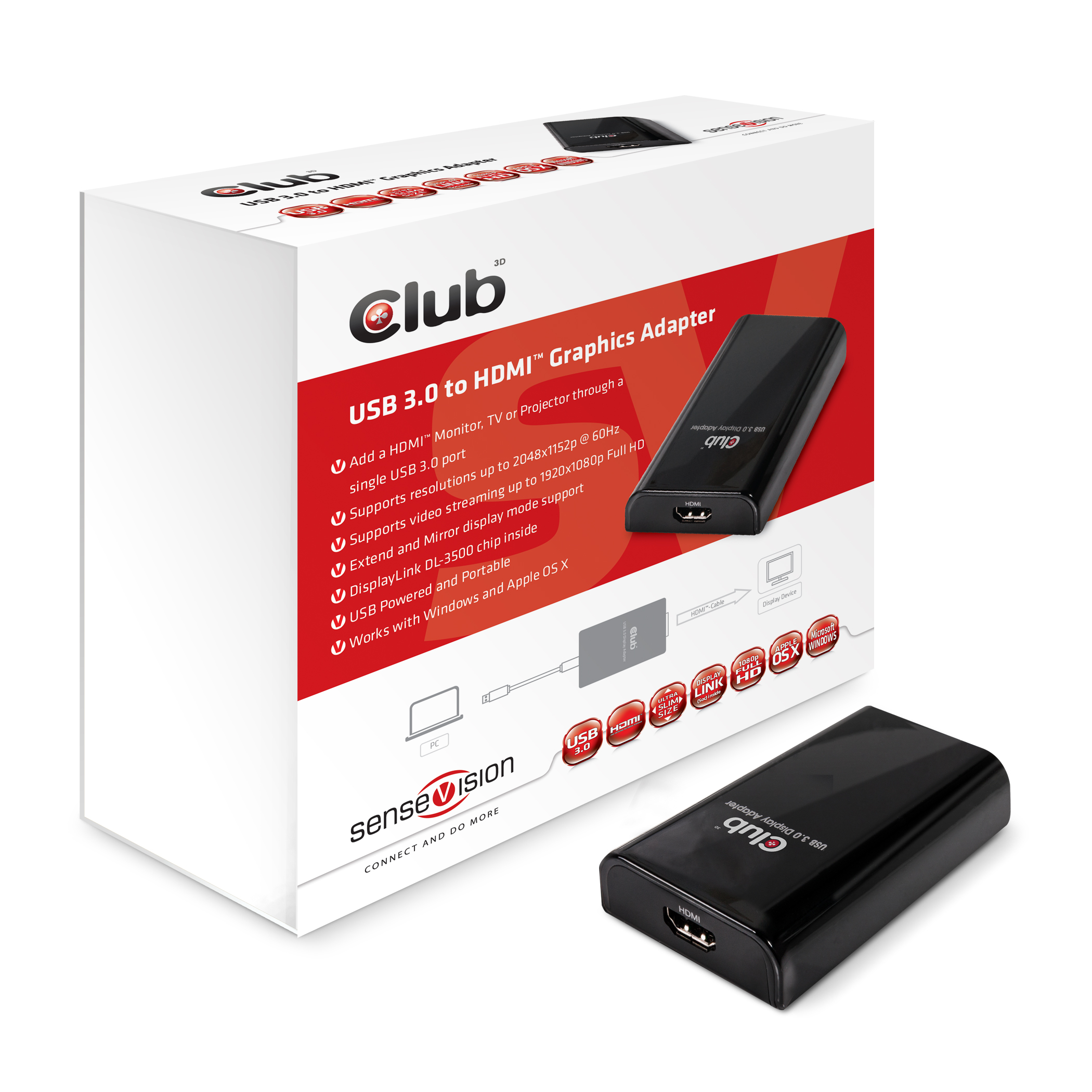 CLUB 3D USB 3.0 TO HDMI ADAPTER