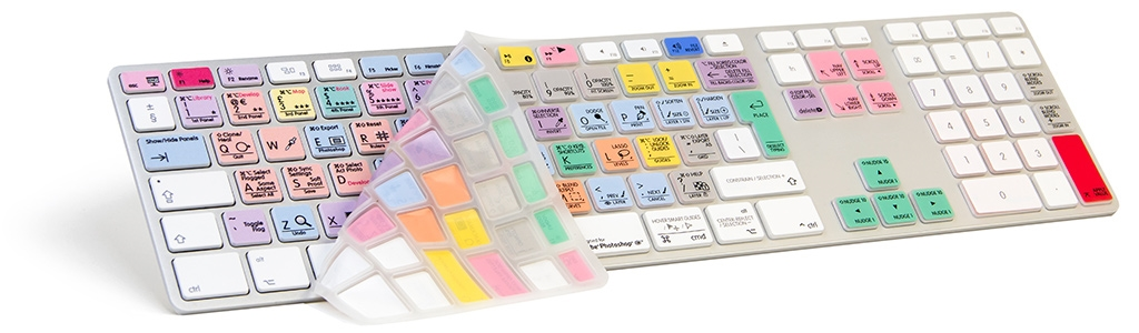 LOGICKEYBOARD ADOBE LIGHTROOM + PHOTOSHOP SKIN APPLE UK