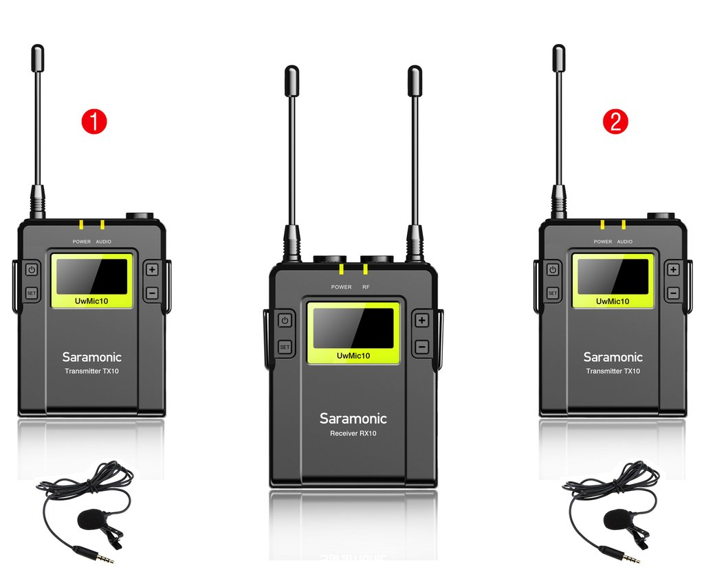 SARAMONIC UHF WIRELESS UvMic9 PACKAGE X2