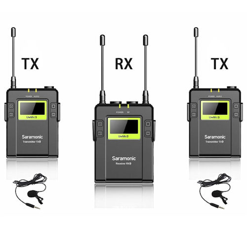 SARAMONIC UHF WIRELESS UwMic10 PACKAGE X1