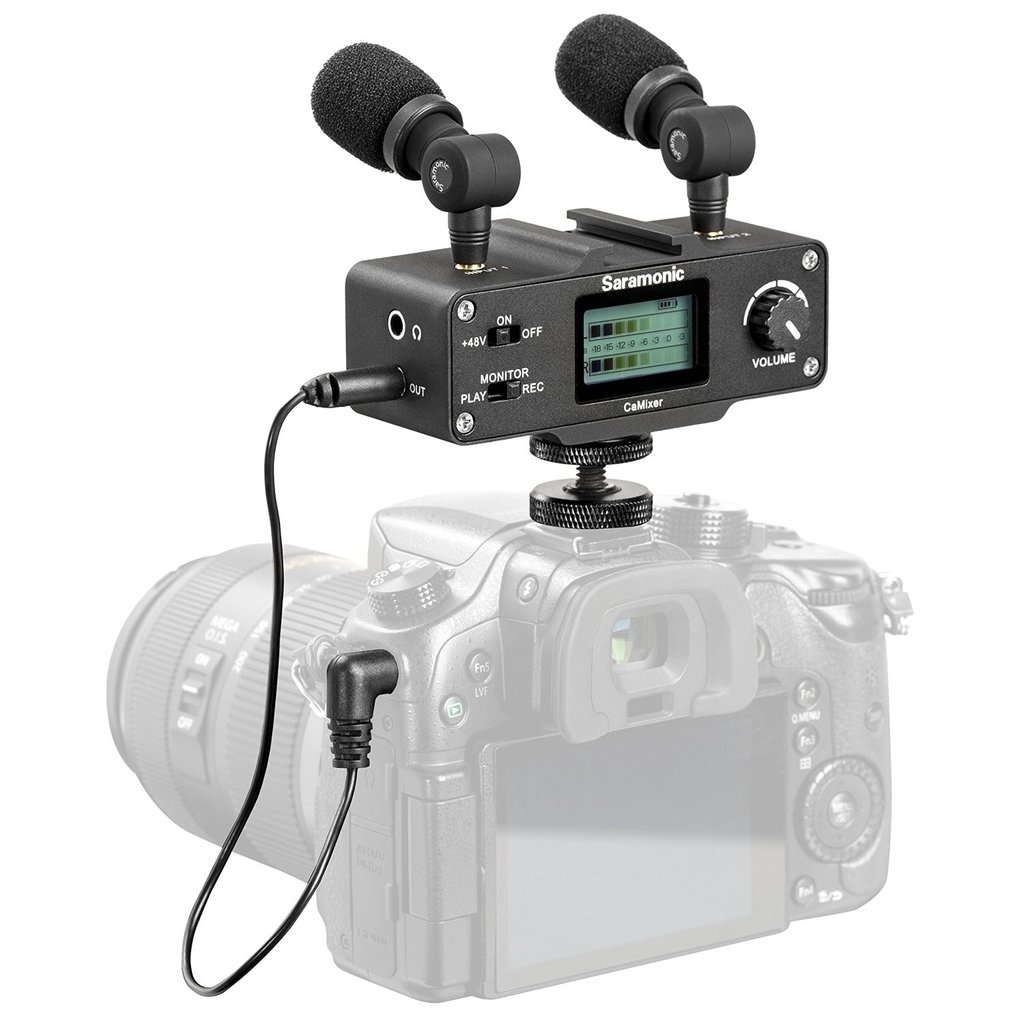 SARAMONIC AUDIO MIXER FOR DSLR/CAMCORDERS