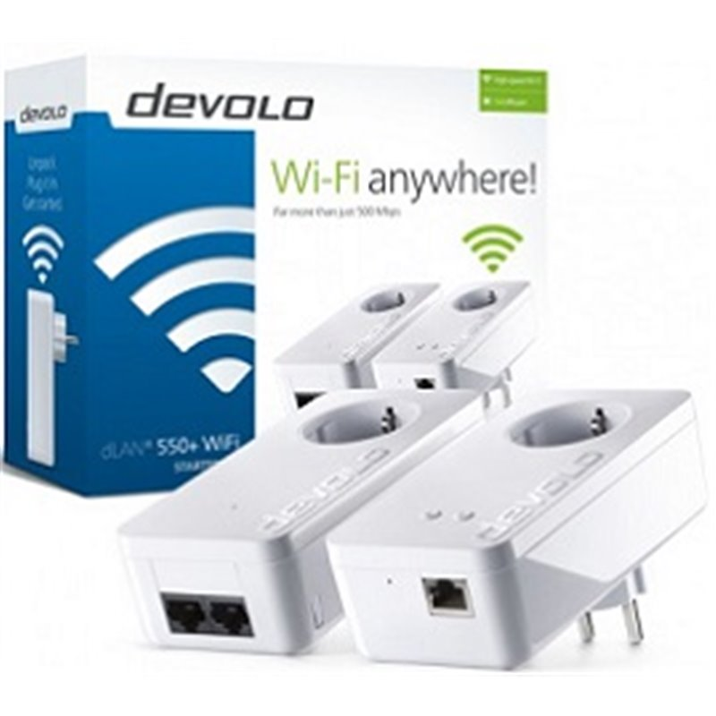 DEVOLO DLAN 550+ WIFI STARTER KIT POWERLINE