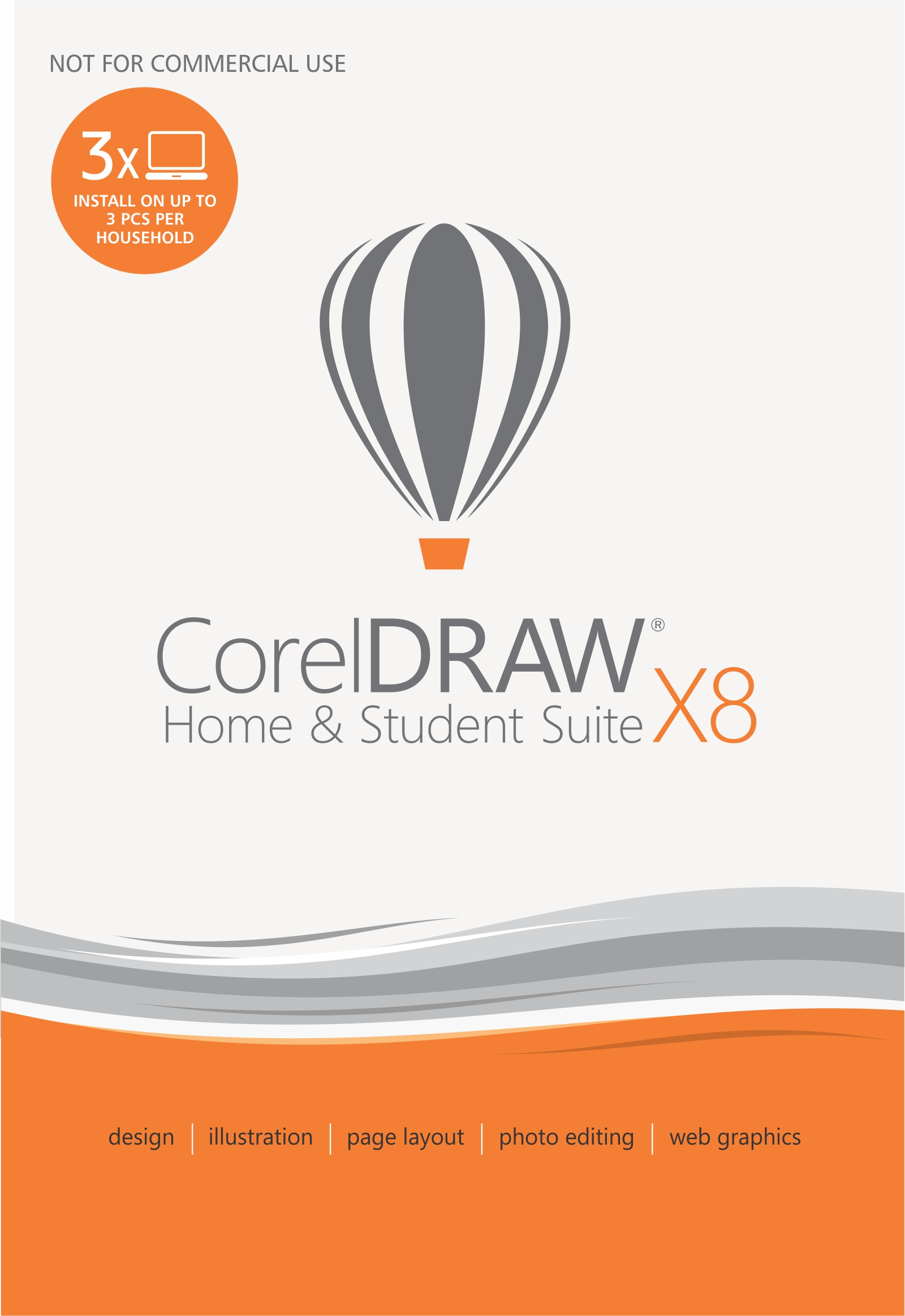 CORELDRAW HOME AND STUDENT SUITE X8 ENG