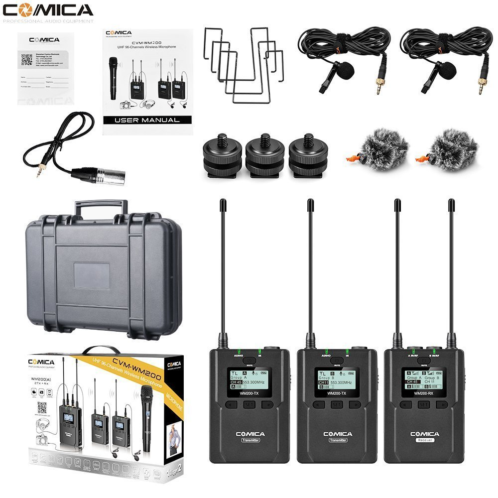 COMICA WIRELESS MICROPHONE KIT WM200A