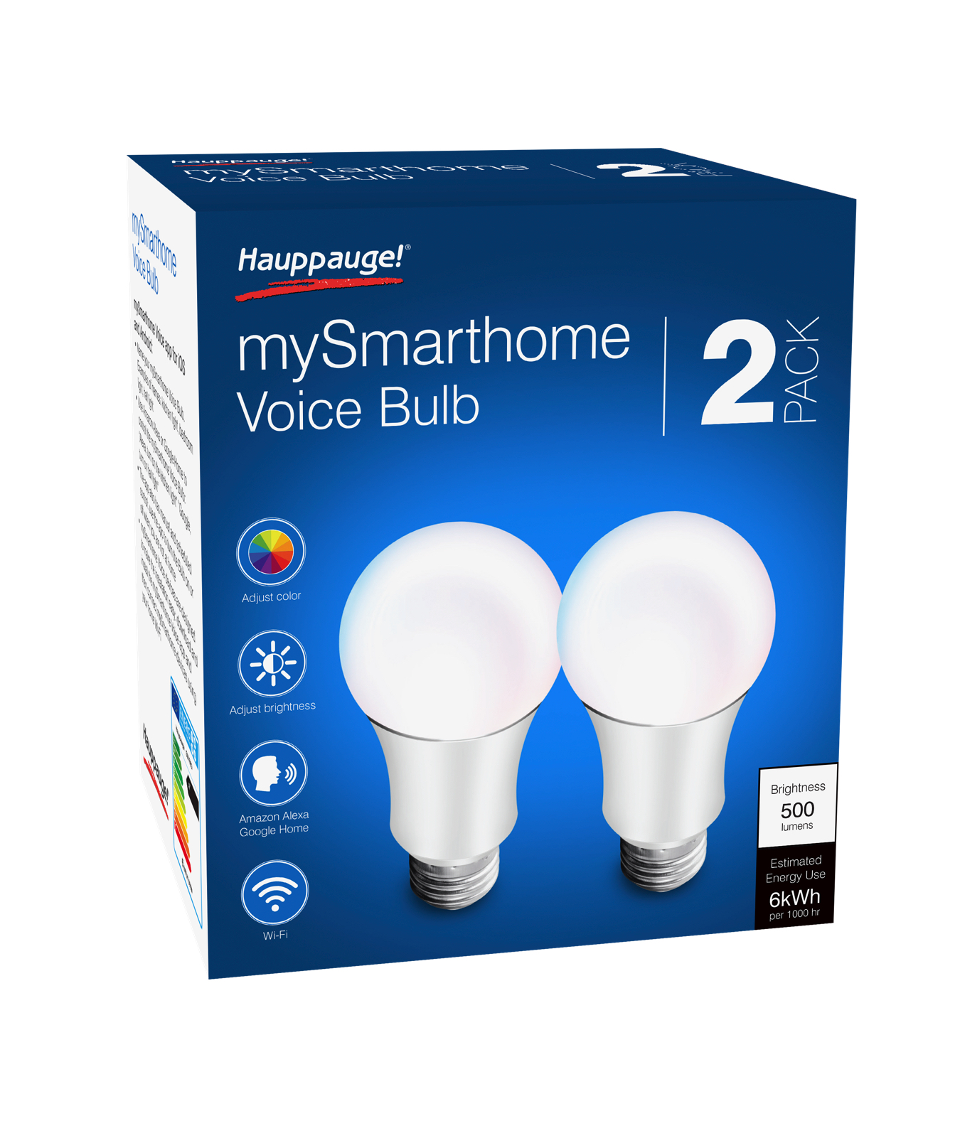 HAUPPAUGE MYSMARTHOME VOICE LED COLOUR BULB 2-PACK