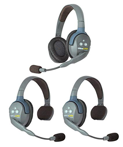 EARTEC ULTRALITE 1 DOUBLE + 2 SINGLE HEADSET