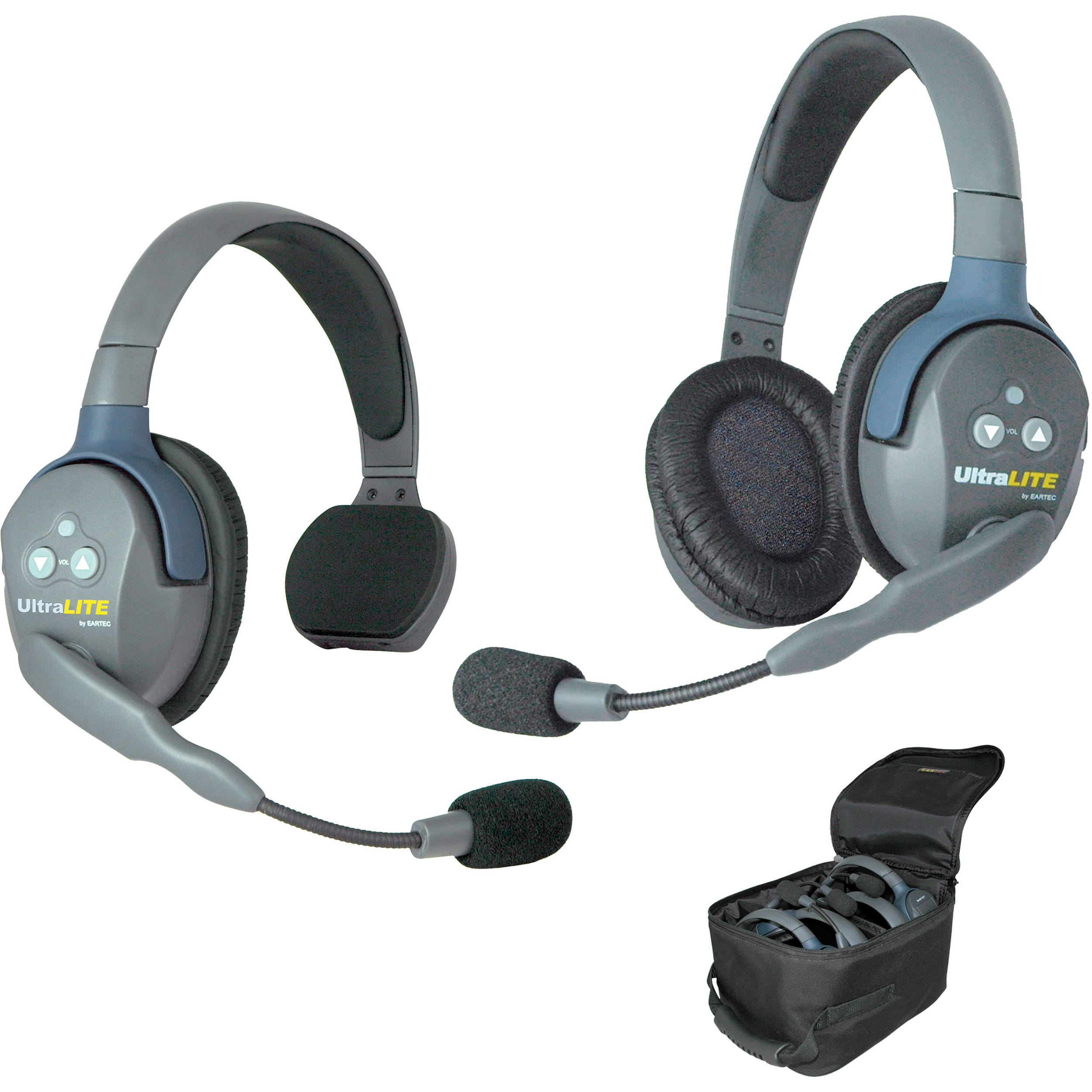 EARTEC ULTRALITE 1 SINGLE + 1 DOUBLE HEADSET HD